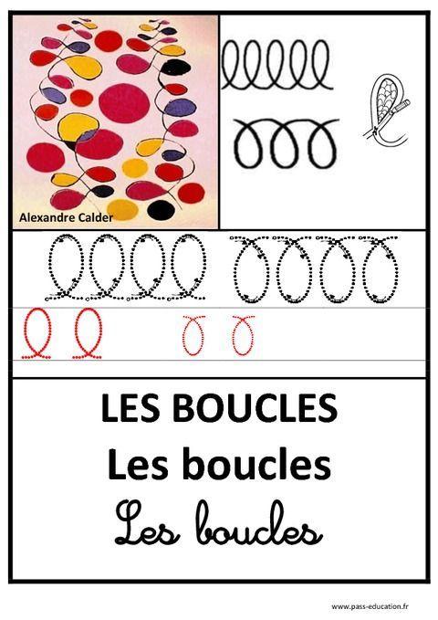 Boucles - Graphisme - Affichages Pour La Classe destiné Le Graphisme En Maternelle