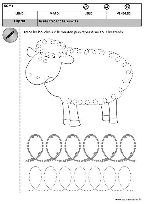 Boucles - Graphisme - Maternelle - Petite Section tout Graphisme Gs Boucles