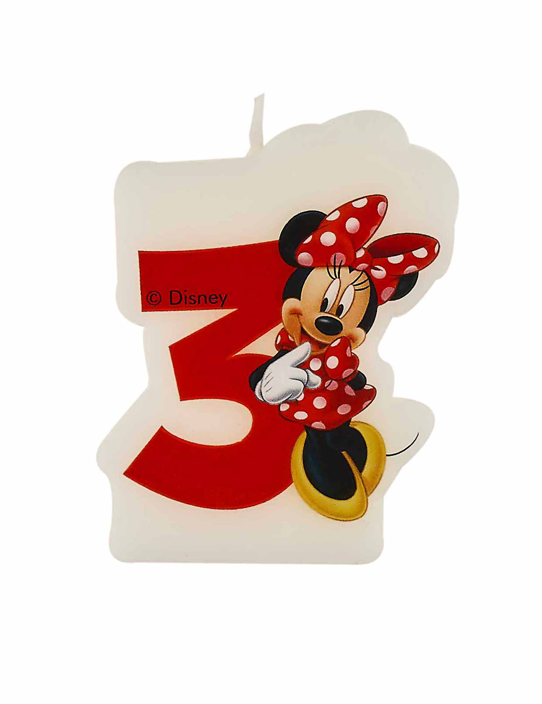 Bougie D'Anniversaire 3 Ans Minnie™, Décoration pour Gateau Anniversaire 3 Bougies