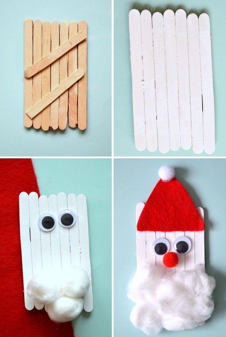 Bricolage De Noël Facile Pour Petits Et Grands - Le Père avec Que Faire Avec Des Batons De Glace