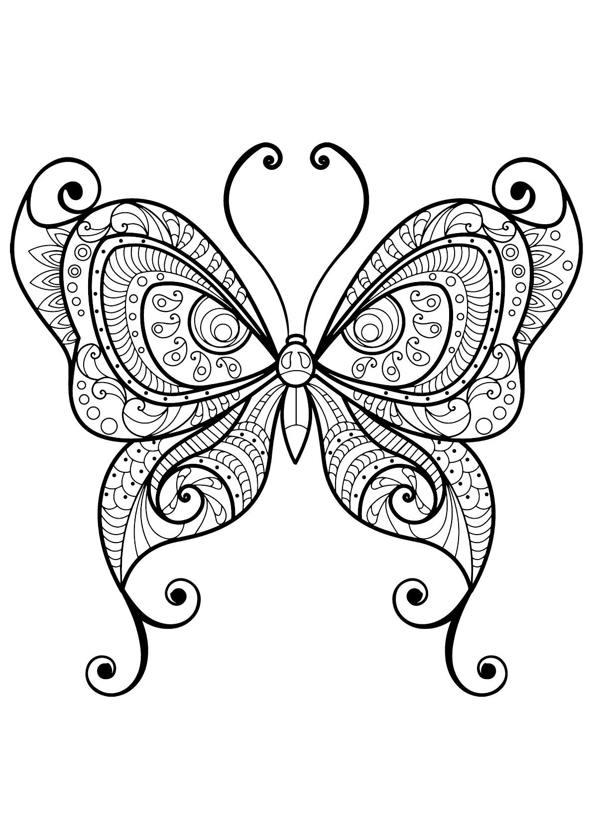 Butterflies Free To Color For Kids - Butterflies Kids encequiconcerne Dessin Papillon À Colorier
