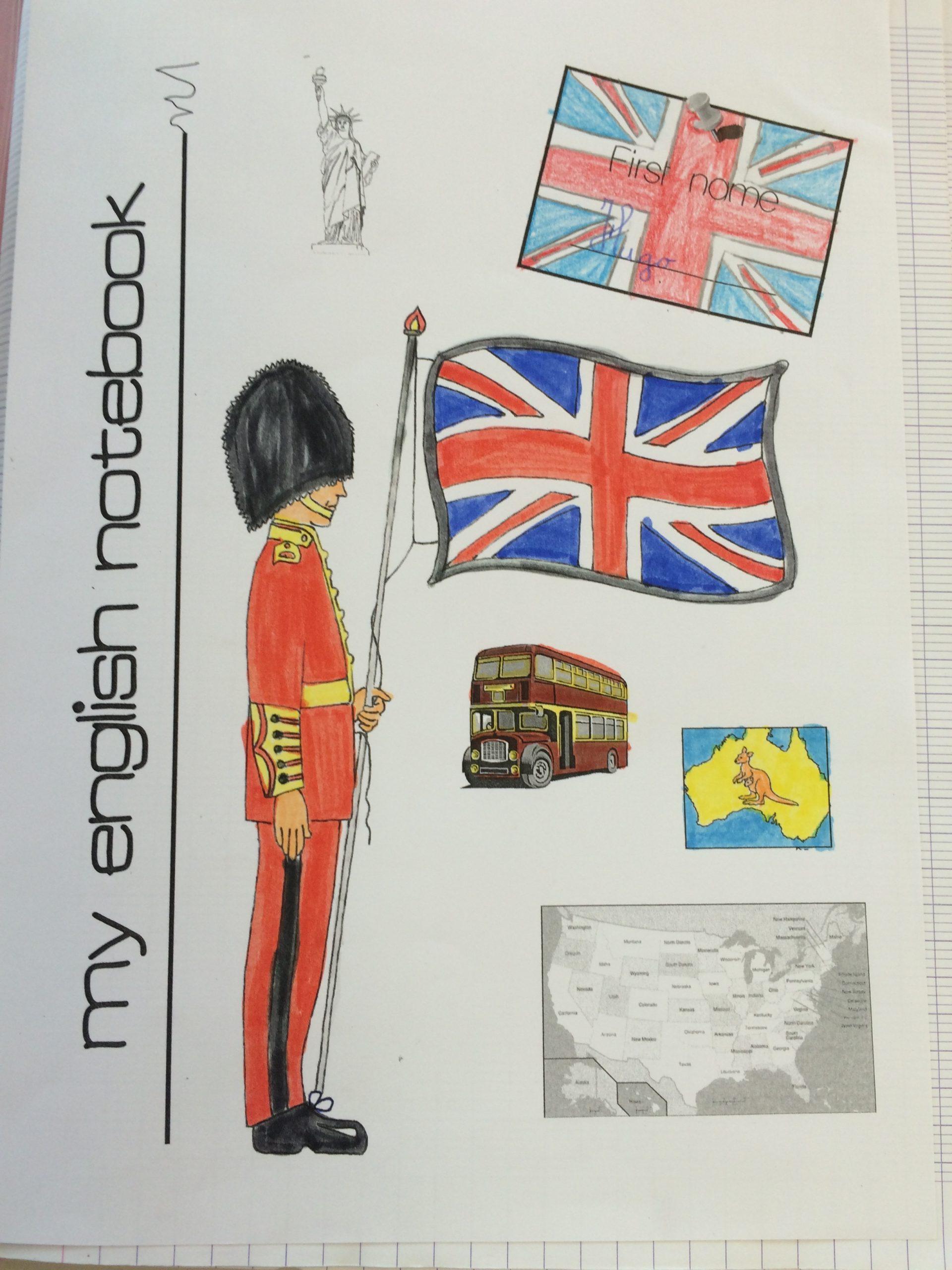Cahier D'Anglais Ce2 (Dernière Version) - Lala Aime Sa Classe dedans Page De Garde En Anglais