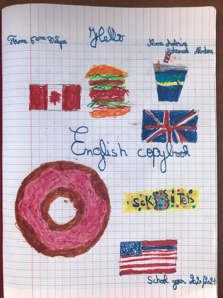 Cahier D'Anglais De 6Eme | Collège Edmond Albius dedans Decoration Cahier Anglais