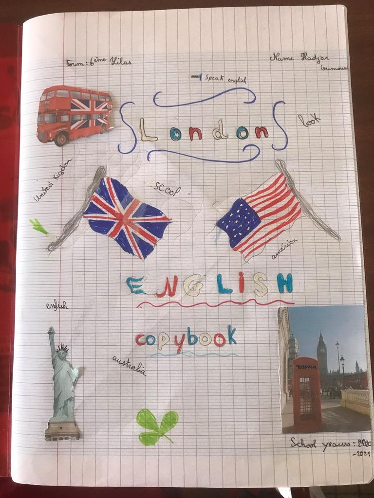 Cahier D'Anglais De 6Eme | Collège Edmond Albius encequiconcerne Decoration Cahier Anglais