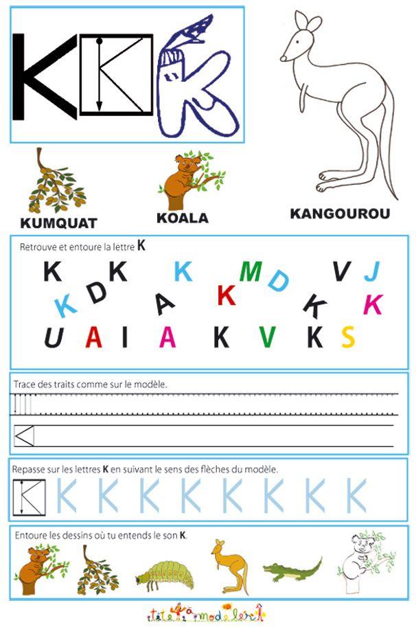 Cahier Maternelle : Cahier Maternelle Des Lettres De L destiné Apprendre À Écrire L Alphabet En Maternelle