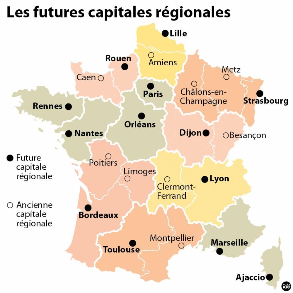 Capitales Régionales : Le Verdict Est Tombé - Le Point concernant Region De France 2018