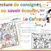 Carnaval: Savoir Écouter Et Lecture De Consignes | Savoir dedans Texte Rentrée Cp