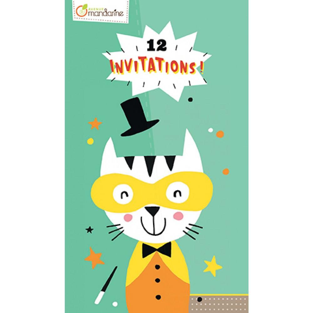 Carnet - 12 Invitations - Animaux - Déco De Table - Je serapportantà Invitation Anniversaire Cultura