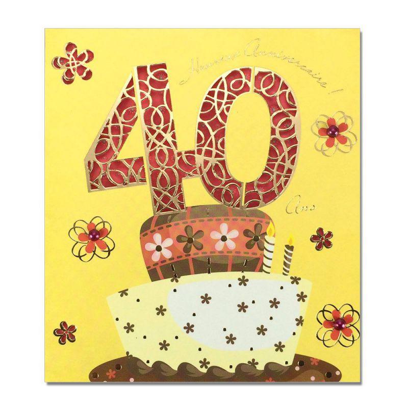 Carte Anniversaire 40 Ans Prestige - Une Carte Pour Toi avec Texte D Invitation Pour Anniversaire 40 Ans