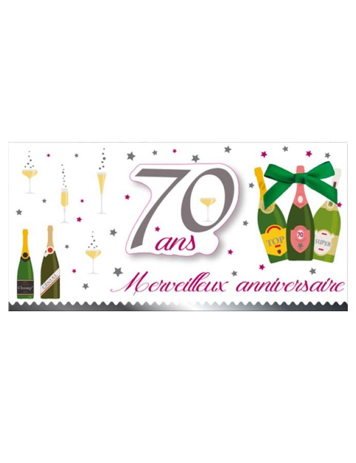 Carte Anniversaire 70 Ans - Mister Fiesta intérieur Texte D Invitation Anniversaire 70 Ans