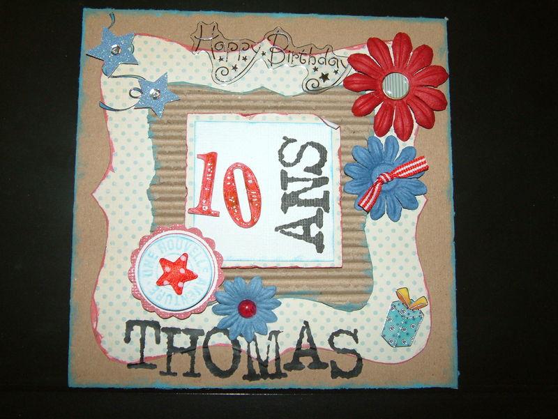 Carte Anniversaire De Thomas 10 Ans - Scrapdenathalie destiné Jeux Pour Anniversaire 10 Ans Garçon