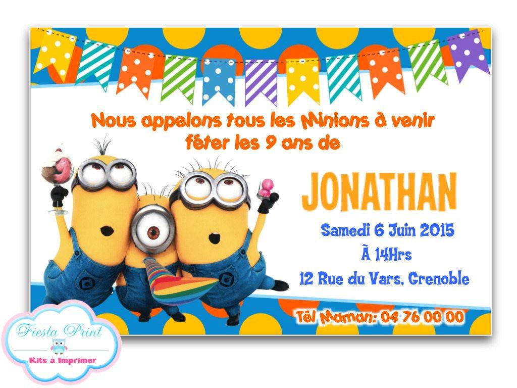 Carte Anniversaire Gratuite Garçon - 1Jour1Col pour Invitation Anniversaire Garçon 10 Ans
