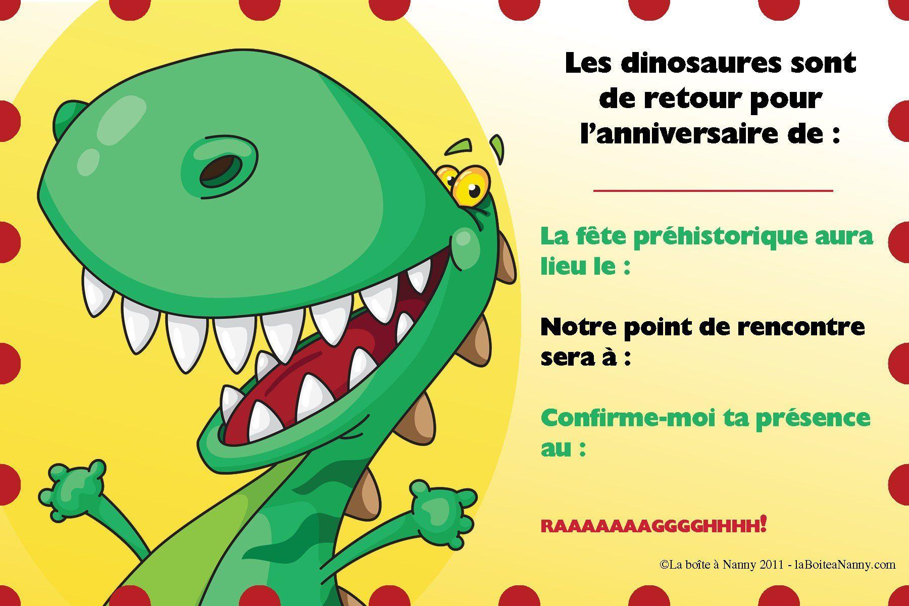 Carte Anniversaire Virtuelle Dinosaure Gratuite - 1Jour1Col à Invitation Anniversaire Cultura