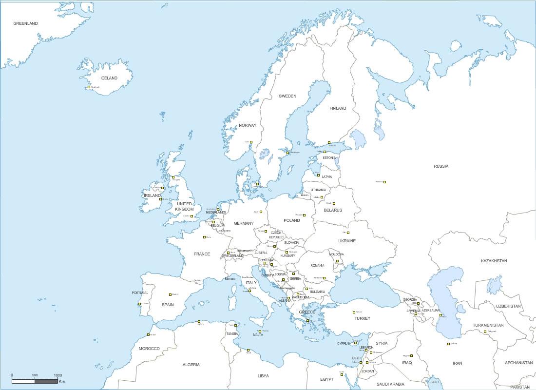 Carte D Europe Images Et Photos - Arts Et Voyages concernant Planisphère De L Europe