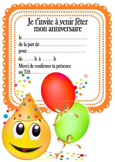 Carte D Invitation Pour Anniversaire A Imprimer Gratuitement dedans Modele Carton Invitation Anniversaire Gratuit