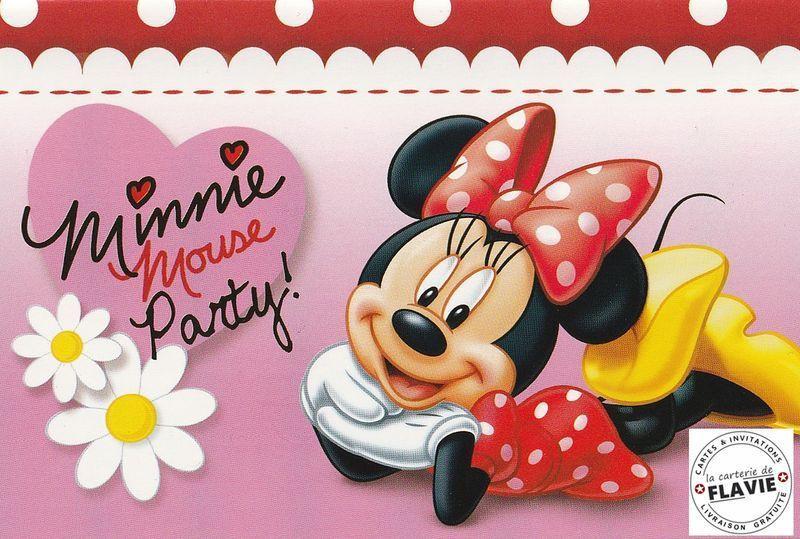 Carte D'Anniversaire Minnie Unique Invitation Anniversaire avec Invitation Anniversaire Minnie