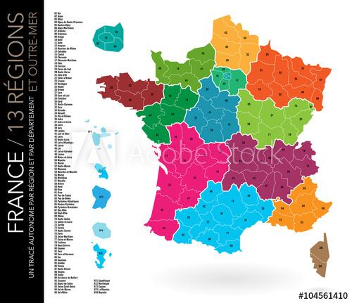 Carte De France Avec Numéro De Département - រូបភាពប្លុក pour Numero Departement Outre Mer Francais