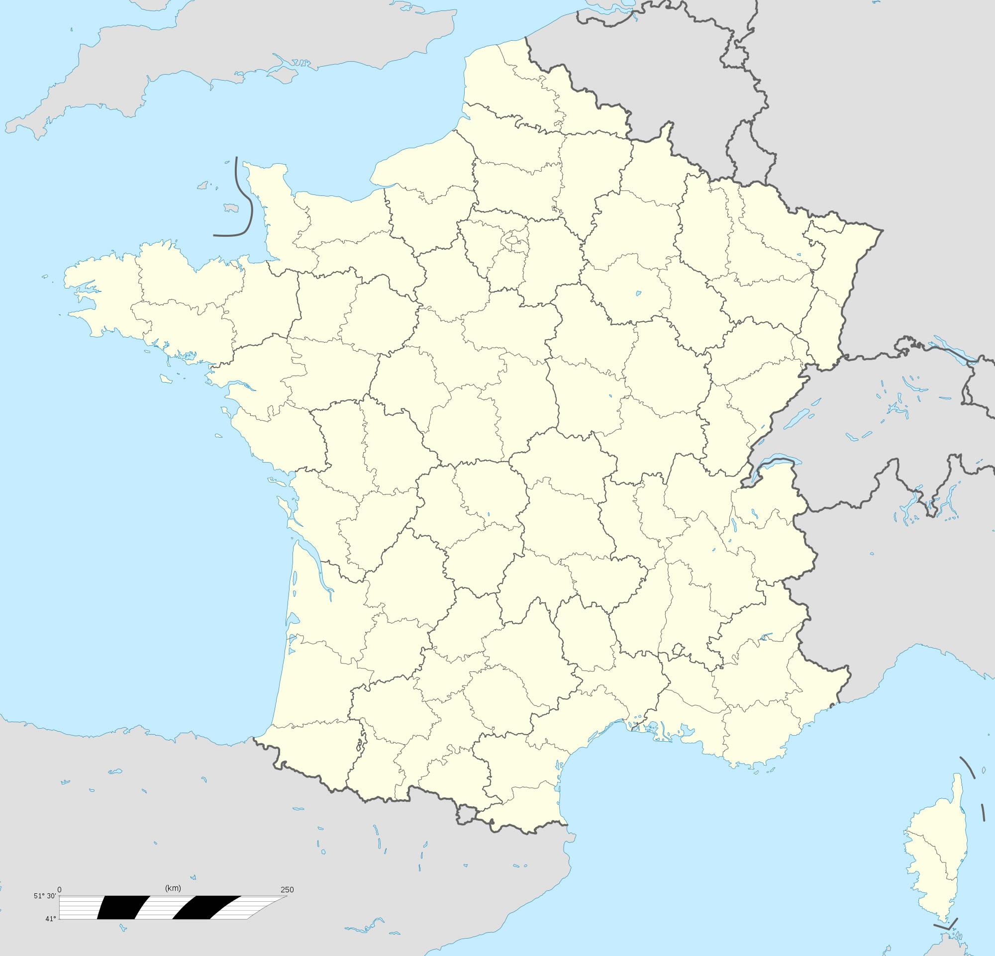 Carte De France Departement Vierge A Colorier   My Blog pour Dessin Carte De France