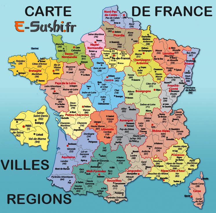 Carte De France Vacances - Arts Et Voyages intérieur Carte De France Avec Departement A Imprimer