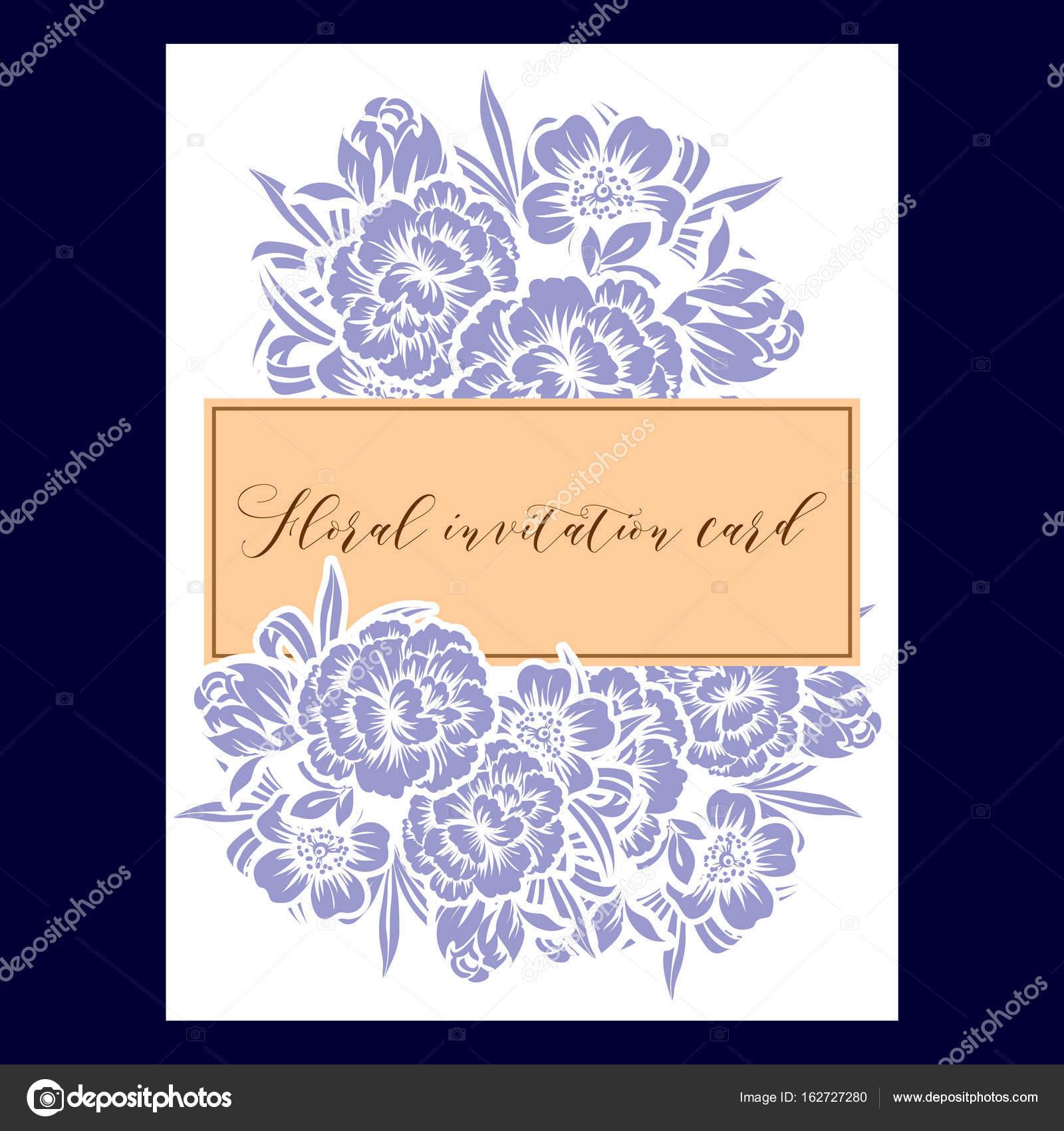 Carte De Mariage Fleurie De Style Vintage. Éléments à Formule D Invitation Mariage