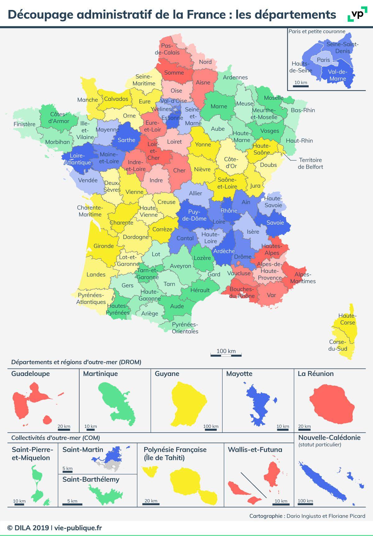 Carte Découpage Administratif De La France : Les tout Le Découpage Administratif De La France Ce2