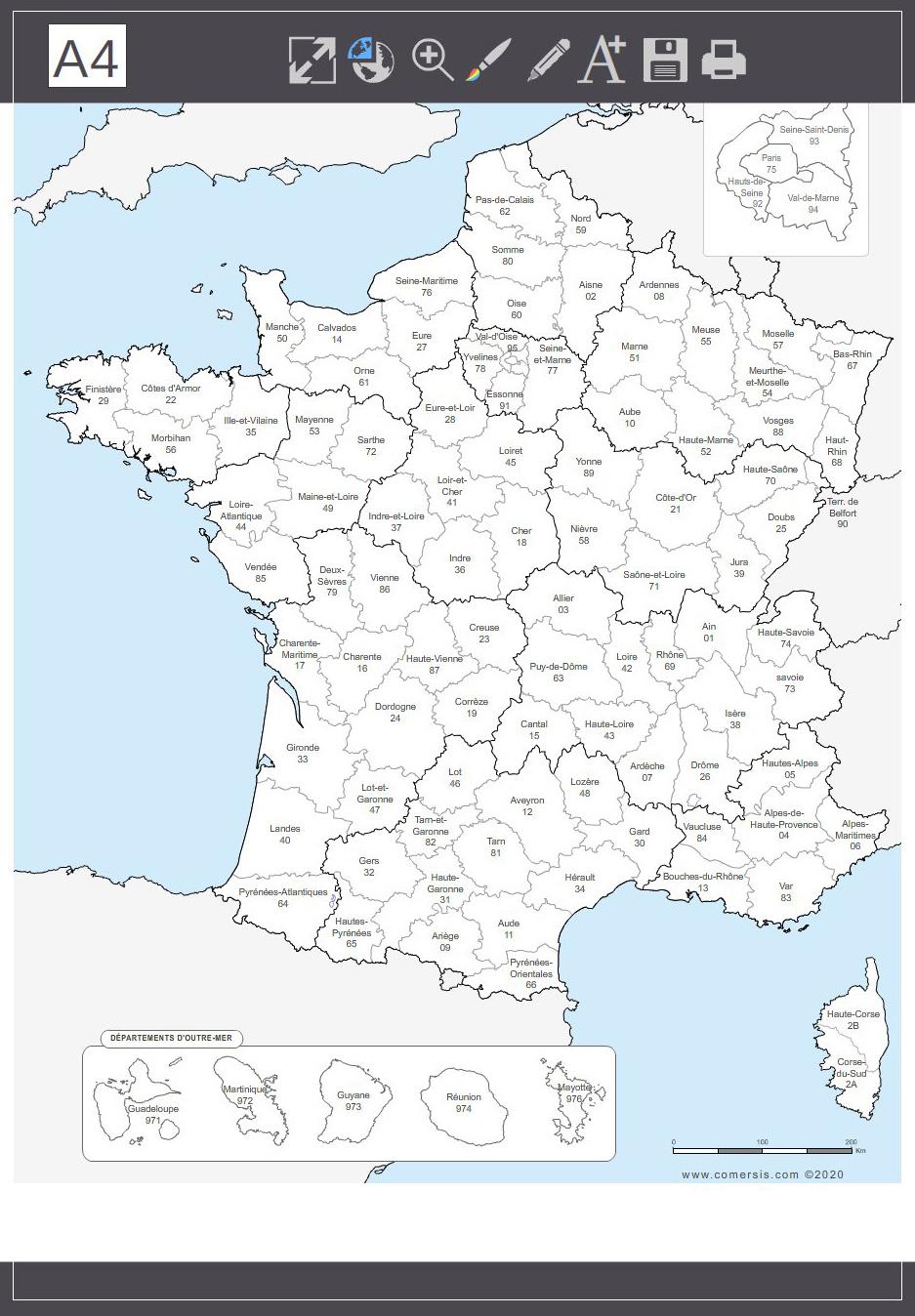 Carte Des Dpt De France   My Blog dedans Liste Departement Francais Pdf