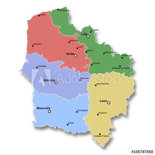 Carte Des Hauts-De-France - Acheter Cette Illustration tout Acheter Carte De France