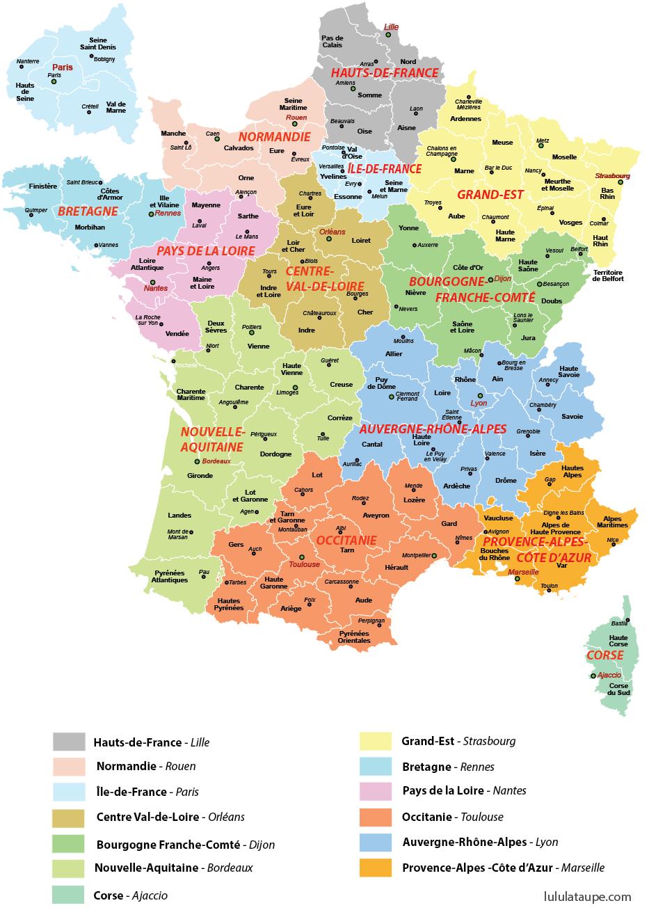Carte Des Nouvelles Region De France   My Blog tout Liste Des Régions Françaises