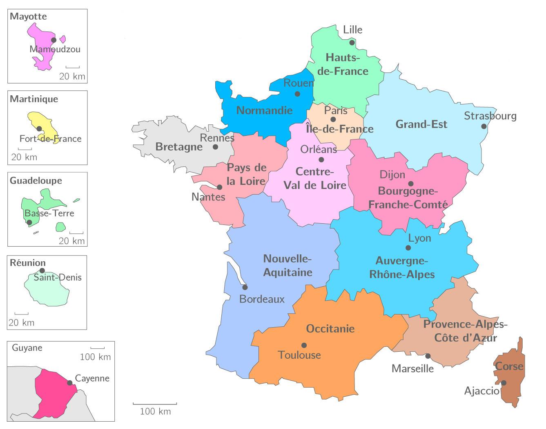 Carte Des Nouvelles Régions Françaises - Primanyc destiné Nouvelles Régions De France
