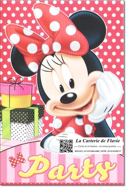 Carte D'Invitation Anniversaire Minnie Lovely Carte D destiné Invitation Anniversaire Minnie