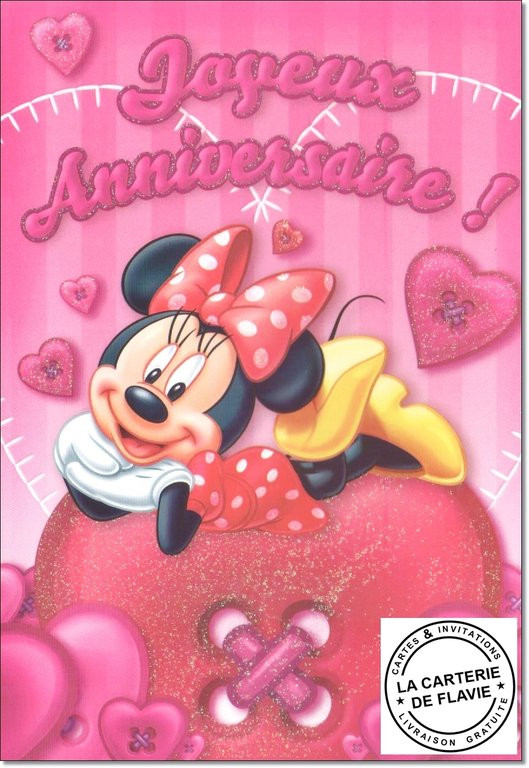 Carte D'Invitation Anniversaire Minnie Unique Carte dedans Invitation Anniversaire Minnie