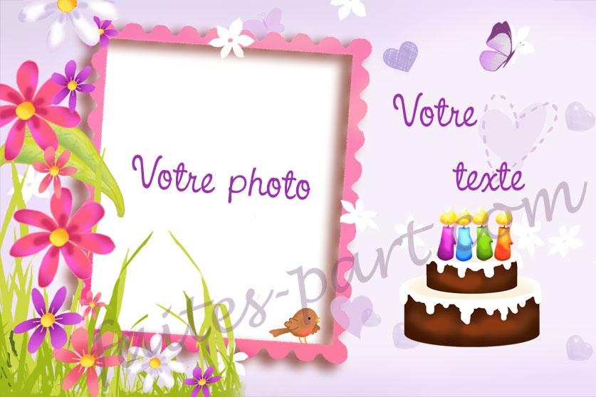 Carte D'Invitation Pour Anniversaire Adulte Avec Photo dedans Site Pour Faire Des Cartes D Invitation Gratuit