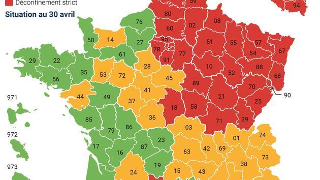 Carte Du Déconfinement: La France Se Réconcilie Avec Ses destiné La Carte Des Départements De France