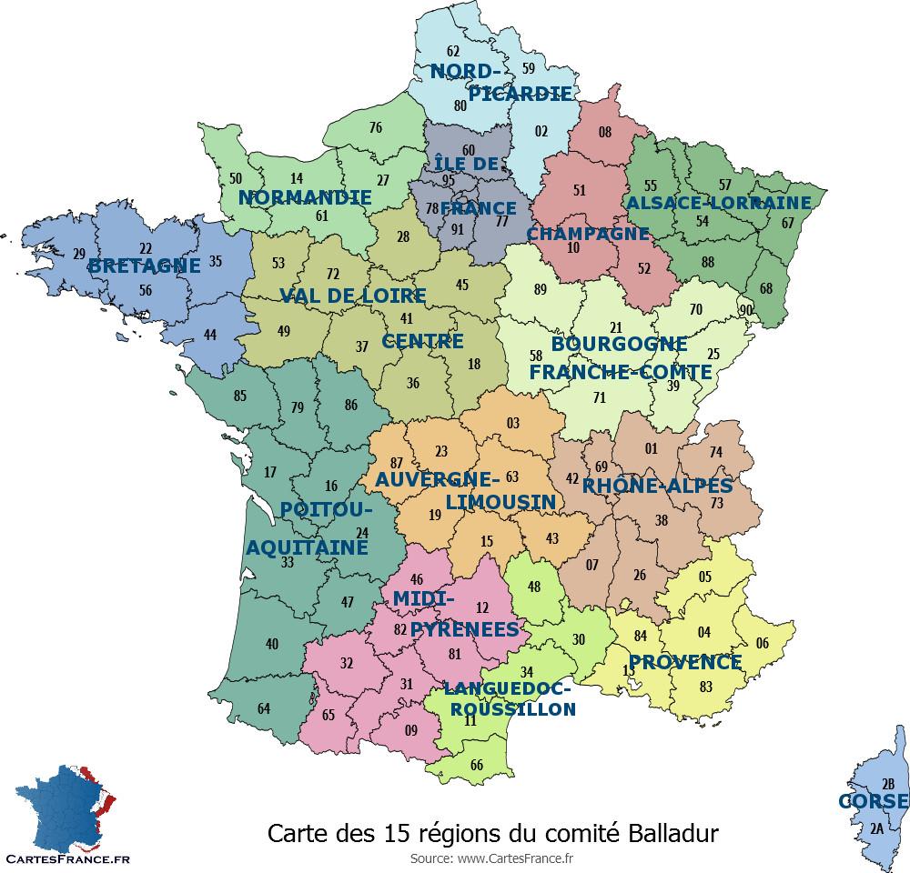 Carte France Département - Les Departements De France tout Carte De France Avec Departement A Imprimer