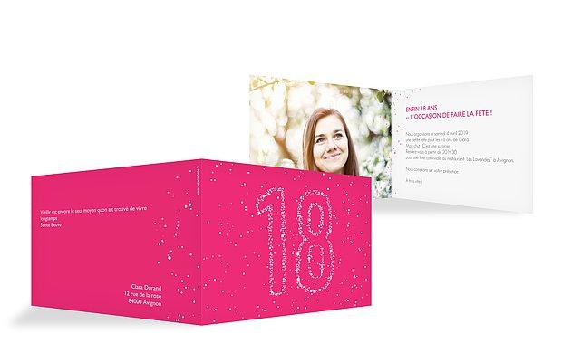 Carte Invitation Anniversaire 18 Ans : Large Choix De Modèles concernant Modele Invitation Anniversaire 18 Ans