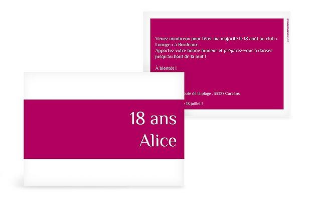 Carte Invitation Anniversaire 18 Ans : Large Choix De Modèles dedans Modele Invitation Anniversaire 18 Ans