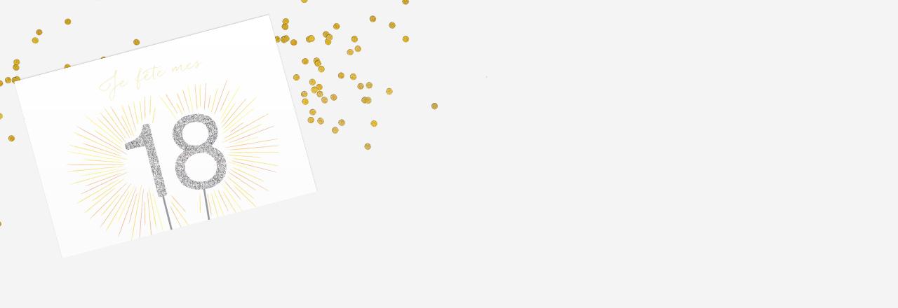 Carte Invitation Anniversaire 18 Ans : Large Choix De Modèles intérieur Modele Invitation Anniversaire 18 Ans