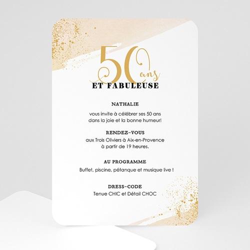 Carte Invitation Anniversaire 50 Ans Fabuleuse 50 avec Texte Humoristique Invitation Anniversaire 50 Ans