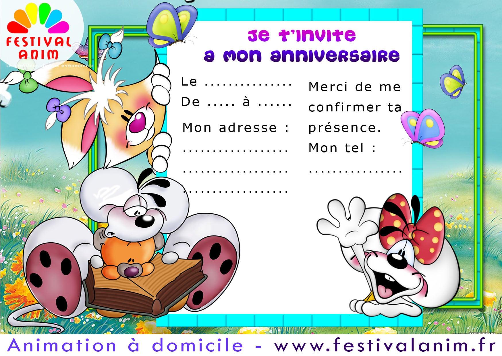Carte Invitation Anniversaire Gratuite tout Modele Carte D Invitation Anniversaire Enfant