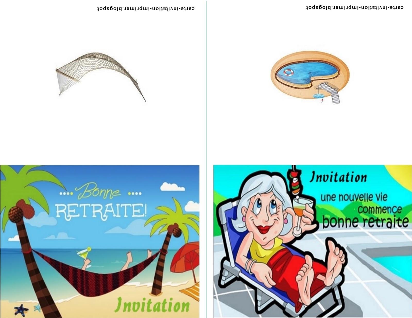Carte-Invitation-Imprimer-Gratuit: Carte Invitation Pour intérieur Invitation Depart Retraite Humour