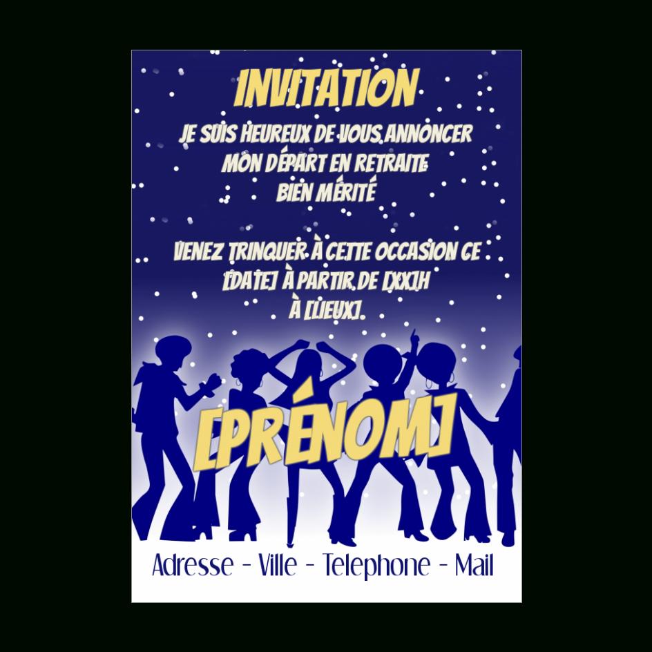 Carte Invitation Retraite Fete Danse Bleu Gratuit À dedans Invitation Pour La Retraite
