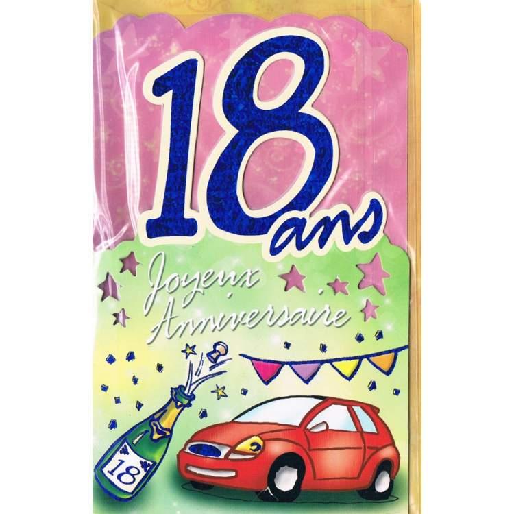 Carte Joyeux Anniversaire 18 Ans - Méga Fête avec Invitation 18 Ans Garcon