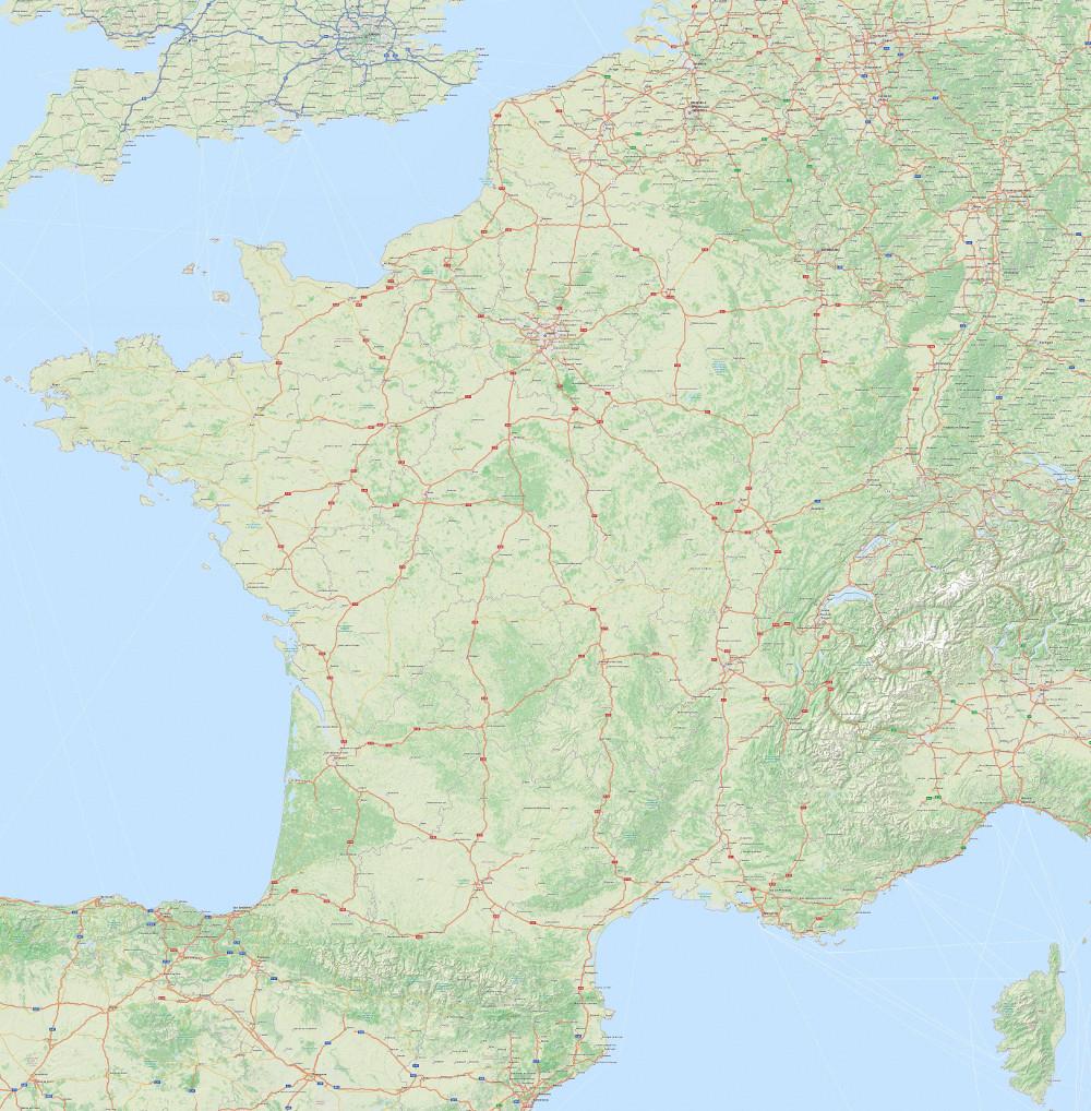 Carte Routière En Haute Résolution À Carte De France avec Acheter Carte De France