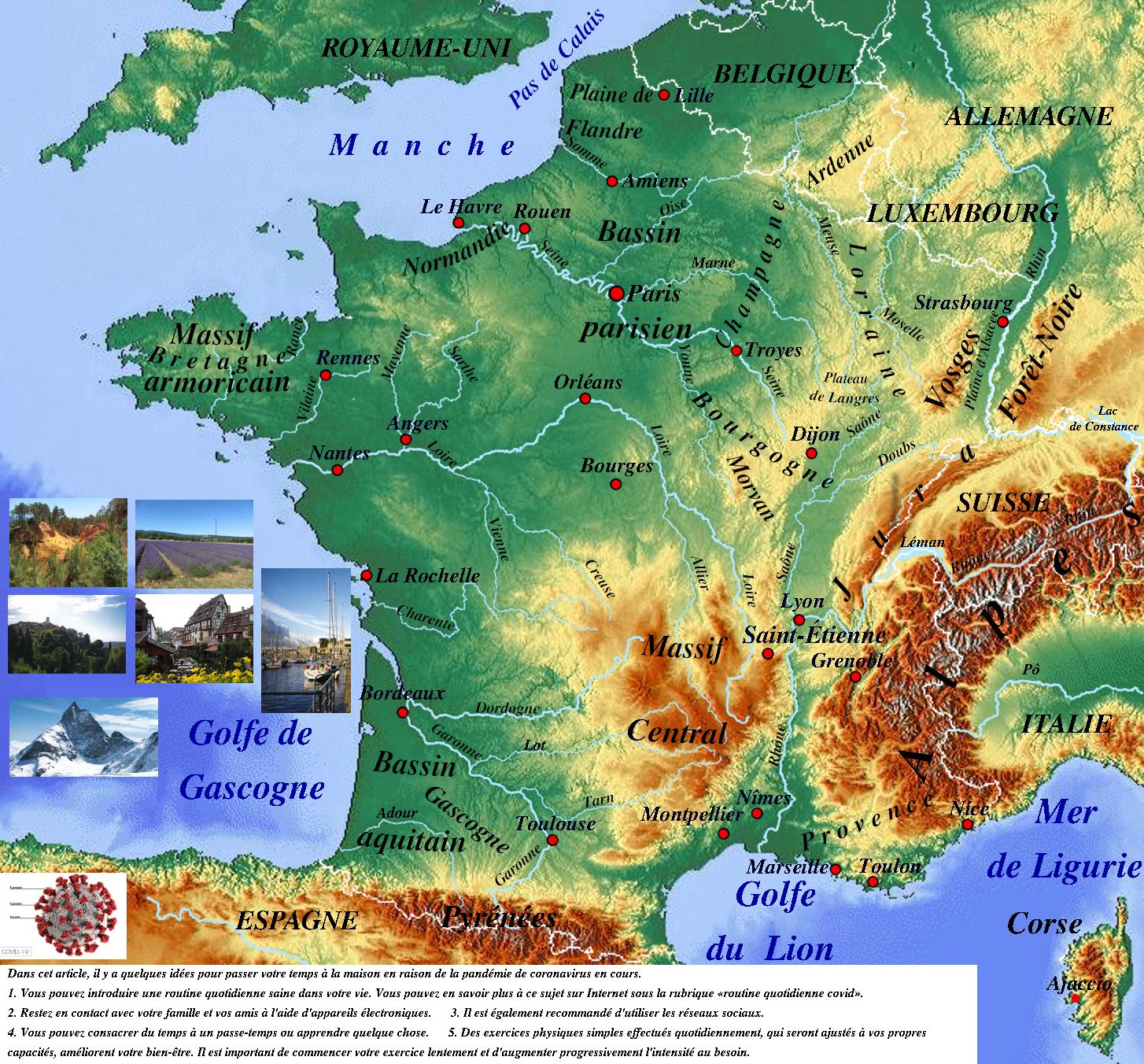 Carte Topographique De La France | Physicalmap dedans Mappe De France