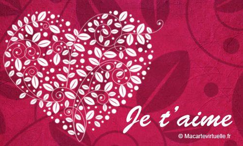 Carte Un Coeur De Fleur Pour Dire Je T'Aime | Fleurs Coeur intérieur Je T Aime Avec Des Fleurs