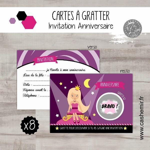 Cartes À Gratter Invitation Anniversaire Enfant Fille Par encequiconcerne Invitation Anniversaire Par Internet