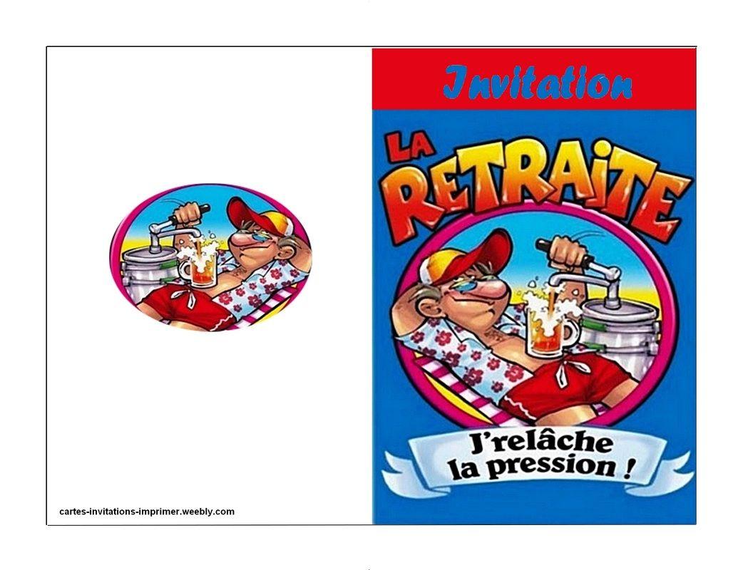 Cartes De Retraite A Imprimer - Ti Bank à Invitation Humouristique