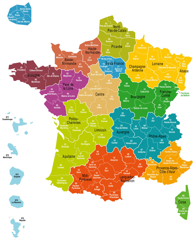 Cartes Des Départements Et Quiz - Cartes De France encequiconcerne Carte De France Avec Departement A Imprimer