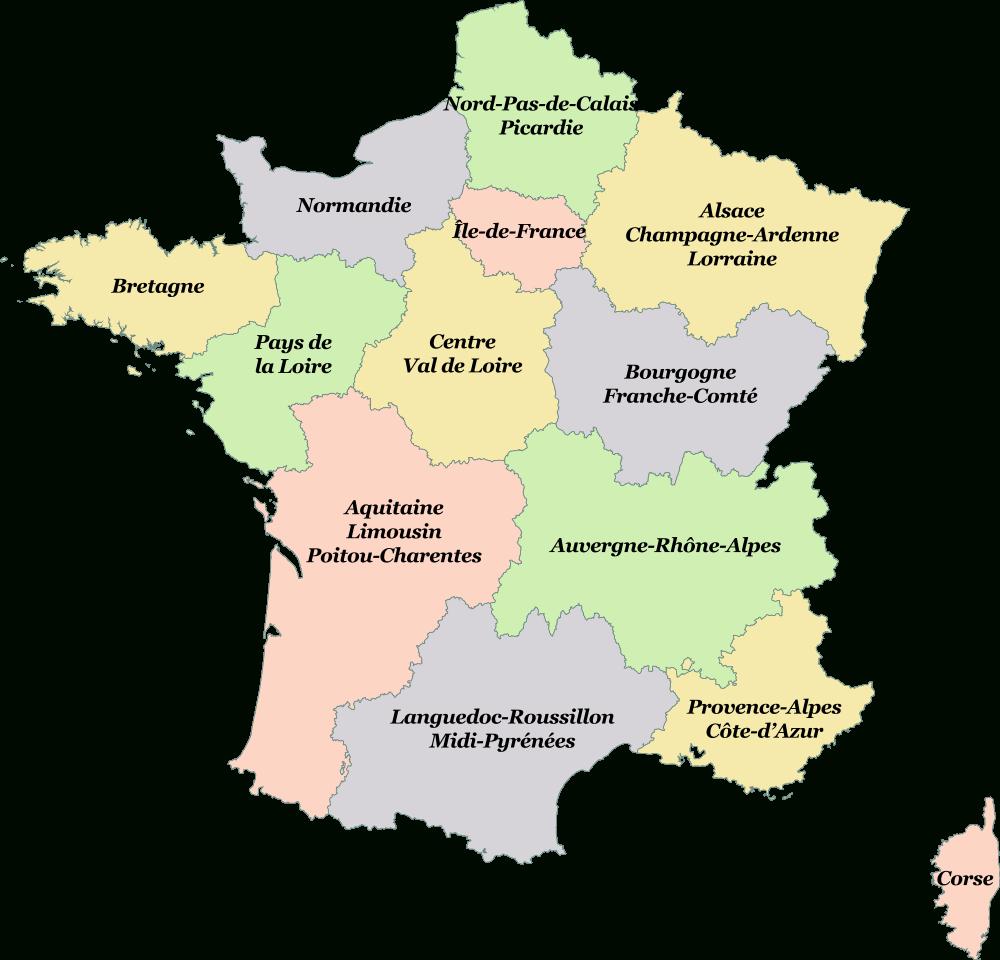Cartes Des Régions Et Quiz - Cartes De France destiné Quiz Régions De France