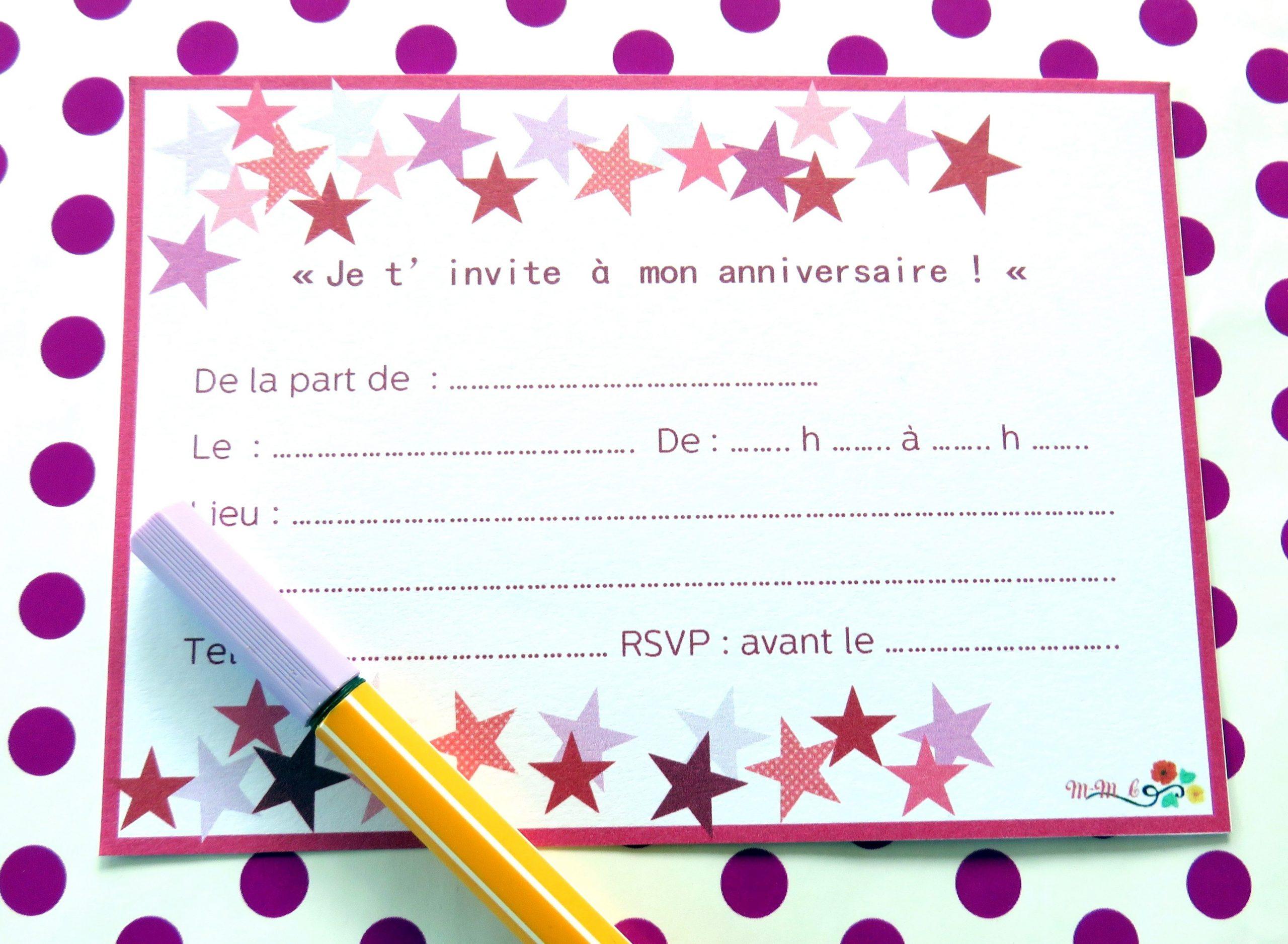 Carton D'Invitation Anniversaire Gratuit | D'Invitation destiné Modele Carton Invitation Anniversaire Gratuit